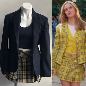 Yellow Plaid Skirt Clueless